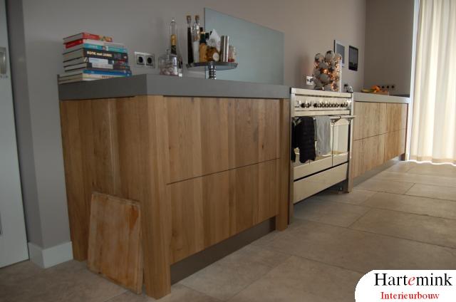 massief eikenhout keuken